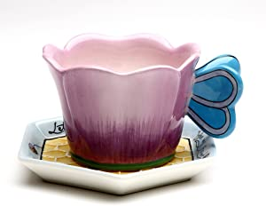 Appletree 2-1/2-Inch Ceramic Bee Cup and Saucer