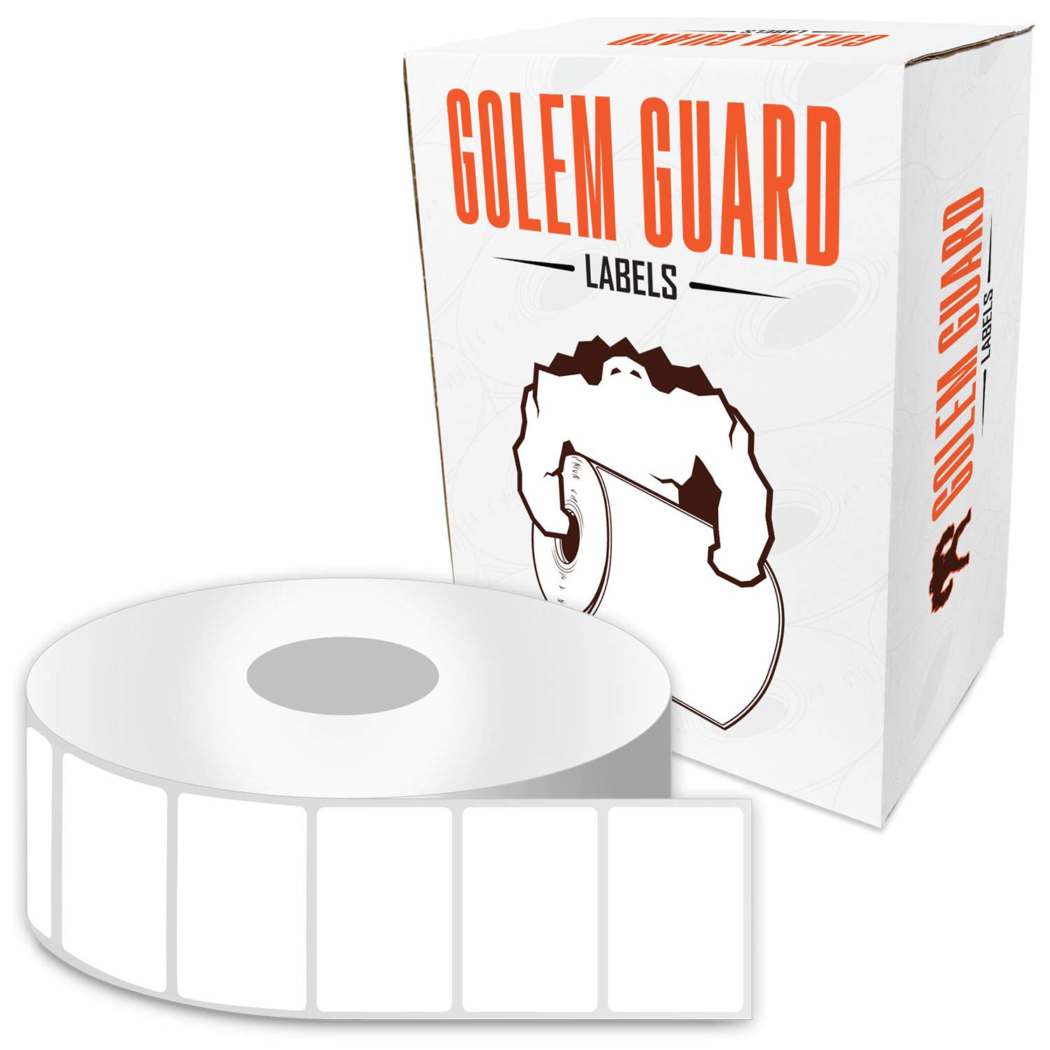 2 x 1 inch GOLEM GUARD Direct Thermal Removable Labels Compatible with Zebra for LP2824 LP2824Z TLP2824 TLP2824Z LP2844 Printers (25 Rolls / 1300 Labels per Roll) by GOLEM GUARD