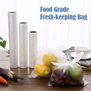 Vacuum Sealer Bags Disposable Food Saver Bags Thickening Preservation Bag Kitchen Home Food Storage Bags Use Restaurant,Camping Food Storage,50 Packs (L)