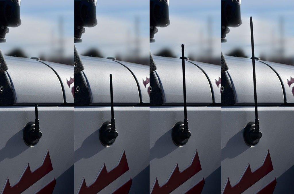 07-14 12 Black SS Stubby Antenna for Jeep Wrangler JK