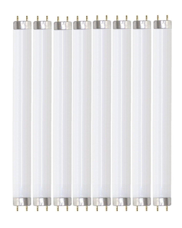 Pack of 8 F25T8/835 25 watt 36'' Straight F25 T8 Medium Bi-Pin (G13) Base, 3,500K Soft White Octron Fluorescent Tube Light Bulb