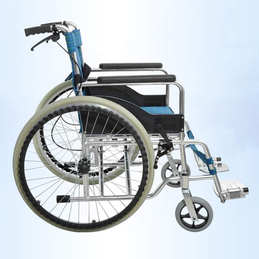 八瀬・王 医療リハビリテーション椅子、車椅子、軽量折りたたみ車椅子運転医療、トイレ高齢者の車いすポータブルトラベルWHEとの厚さのアルミニウム合金ダブルブレーキ車椅子折りたたみ軽量