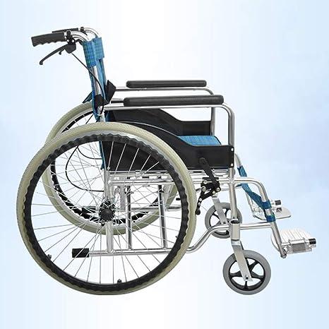 SPONSOKT Silla de ruedas plegable liviana Conducción médica ...