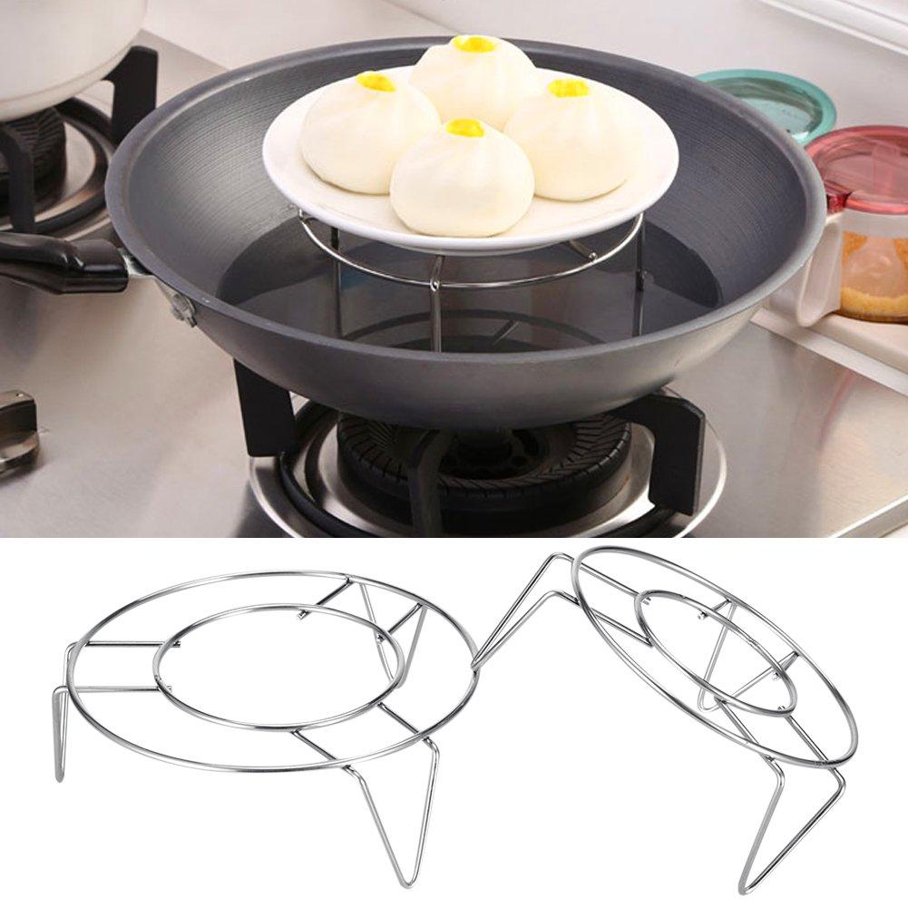 Support pour rack fil en métal batterie de cuisine cuiseur vapeur cuisson en acier inoxydable Ware cuisson à la vapeur Rack Stand 3pieds cuiseur vapeur cuiseur vapeur trépied zsl