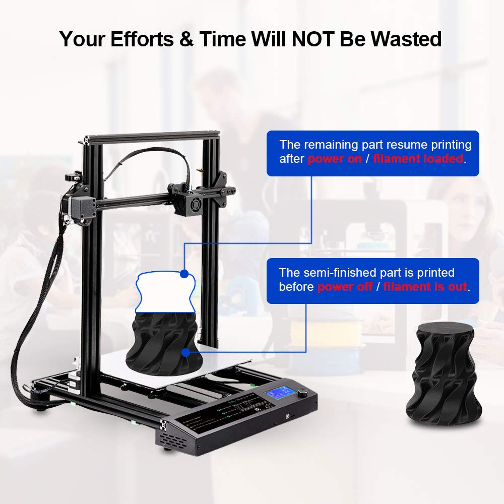 310x310 x400 mm Printing Size Heated Bed,Works with PLA+,PLA,ABS,PETG,Wood,TPU,Carbon Fiber and More SUNLU 3D Printer DIY FDM Fast Assembly