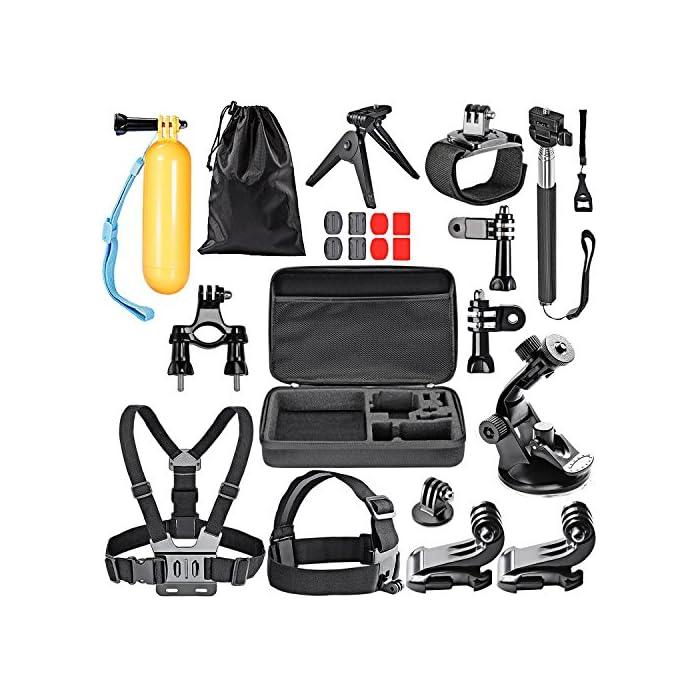 Foneso, Kit 15-en-1 de accesorios para cámaras de deporte.