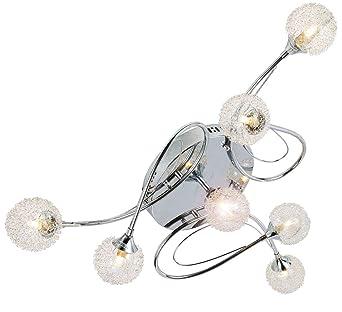 LED Design Decken Leuchte Wohn Schlaf Zimmer Beleuchtung Kristall Lampe Chrom