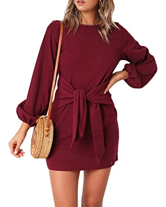 Crewneck Casual Dress