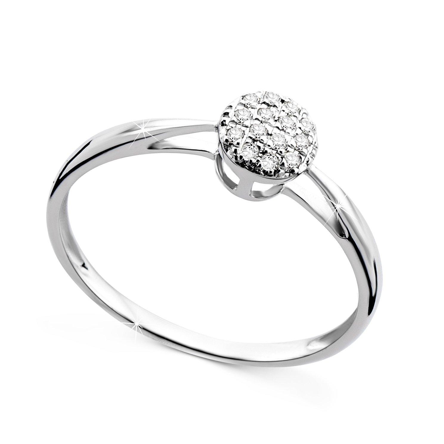 Orovi Anello Donna con Diamanti taglio brillante Ct 0.07 in oro Bianco 9 kt 375 Brioly ORIT72039R