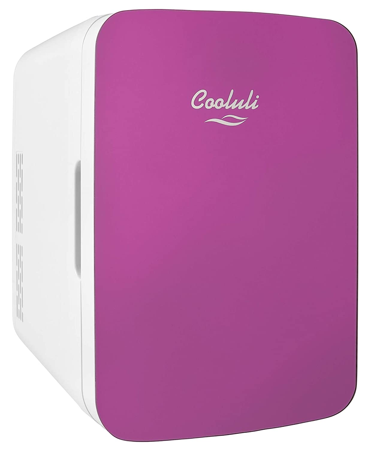 Cooluli Infinity Pink 10 Liter Compact Portable Cooler Warmer Mini Fridge for Bedroom, Office, Dorm, Car - Great for Skincare & Cosmetics (110-240V/12V)