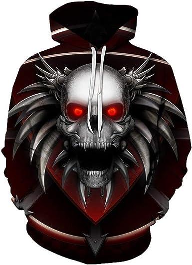 : Red Eye Horror Skull 3D Printing Men's Hoodie