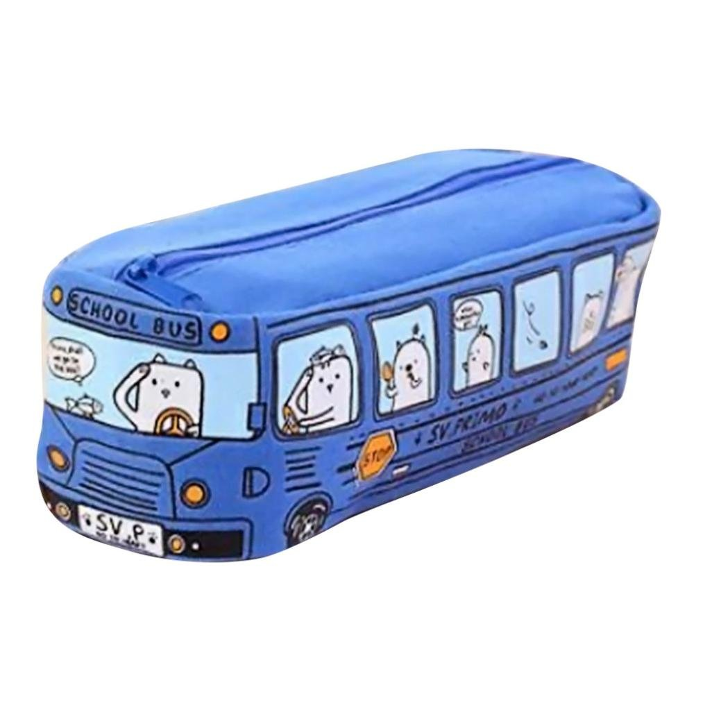 Shubuy Colorful Stationery Pencil Case Cool Pencil Bag Pencil Case Box Cosmetic Bag Travel Makeup Bag Cosmetic Bag Travel Makeup Bag Zipper For Student Gift (Blue)
