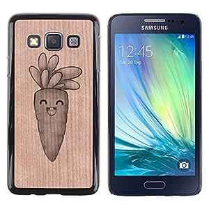 - / Happy Carrot Healthy Food - - Funda Delgada Cubierta Case Cover de Madera / FOR Samsung Galaxy A3 a3000 / Jordan Colourful Shop/