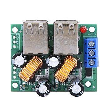 Módulo cargador USB, Inteligente 7-40V a 5V 3A 4 Interfaz ...