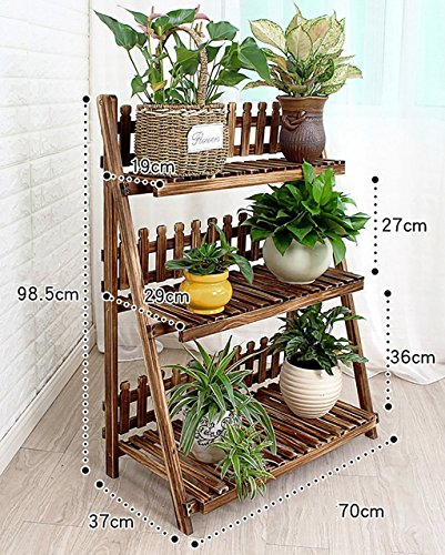 - Pergolas/Flower Racks Wooden Flower Racks/Indoor and Outdoor Plant Racks/Multi-Layer Flower Pots / 3F Ladder Stairway/Floor-Type Flower Display Stand Flower Display Stands (Size : 70cm)