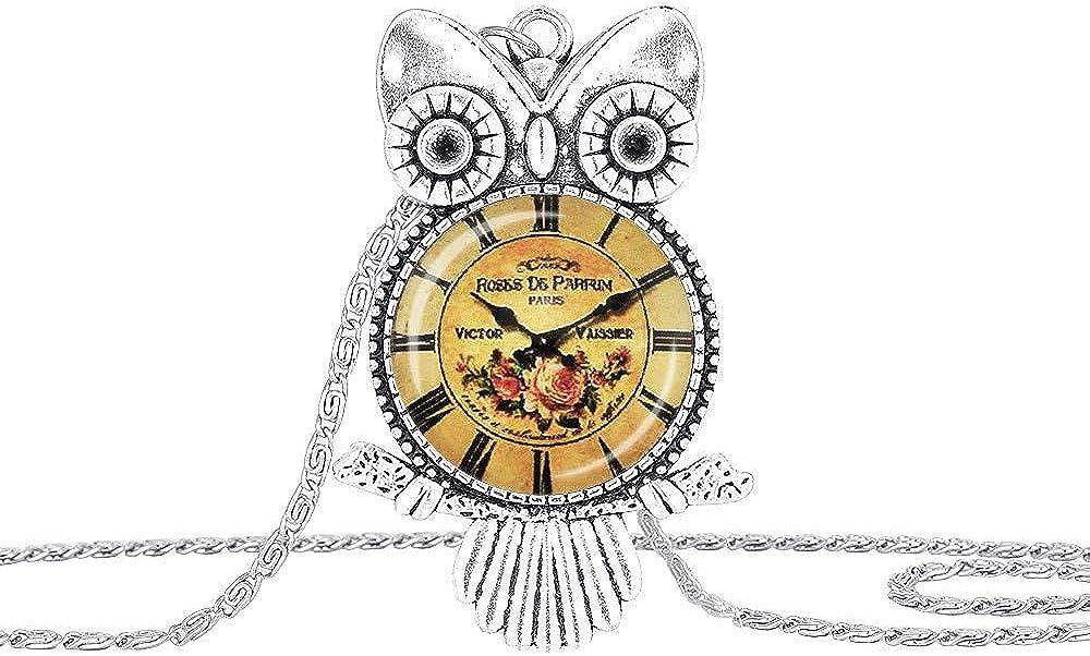 MXWY Collar De Piedras Preciosas Antiguo De Plata Inferior Todo Patrón Patrón Tarjeta De Reloj Colgante Accesorios Pareja Regalo para Novia