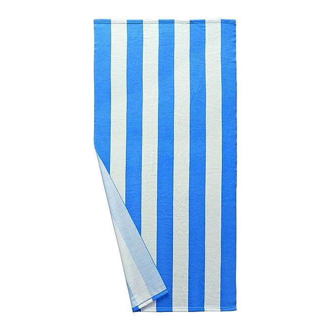 Stanbow - Toalla de playa a rayas, de secado rápido, compacta, suave, ligera, antibacteriana, toalla de viaje de microfibra para playa, natación, piscina, ...