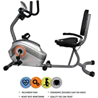 Reach Recumbent Exercise Bike | Exercise Fitness Cycle with Back Support for Home Gym