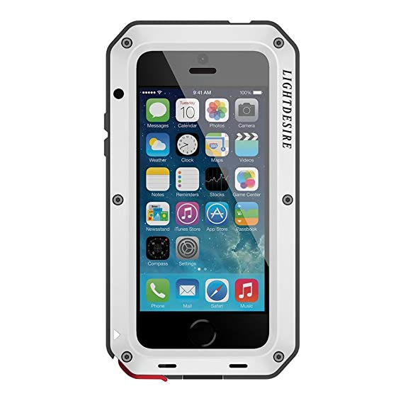 best service 07f8b a72ef iPhone 6S Plus Case LIGHTDESIRE Aluminum Alloy Protective Metal Extreme  Water Resistant Shockproof Military Bumper Heavy Duty Cover Shell [Silver]  for ...