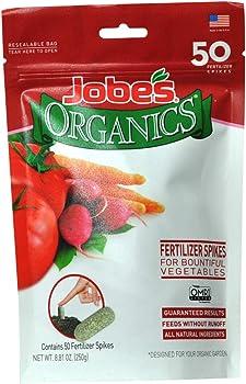 Jobe's 50 Spikes Organics Vegetable & Tomato Fertilizer Spikes