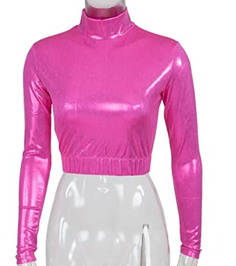 5b12f4db516c Image Unavailable. Image not available for. Color: Cheer Fantastic Metallic  Mock Turtleneck ...