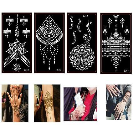 KAMRL Tatuaje Falso Tatuaje India Tatuaje Plantilla Hueca Pasta ...