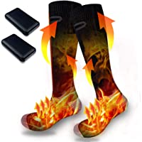 2021 New Heated Socks for Men and Women, USB Rechargeable New Upgrade 4000 mAh Large Capacity Battery Up to 6~10 Hours…