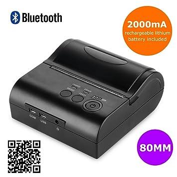 Excelvan Inalámbrico Bluetooth Impresora Térmica Portátil ...