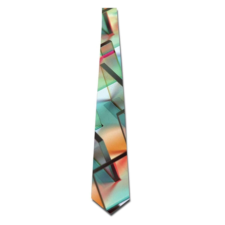 Men's Tie Necktie Neckwear Polyester Silk Neckcloth Abstract Glasses Printed Neck Choker Women's