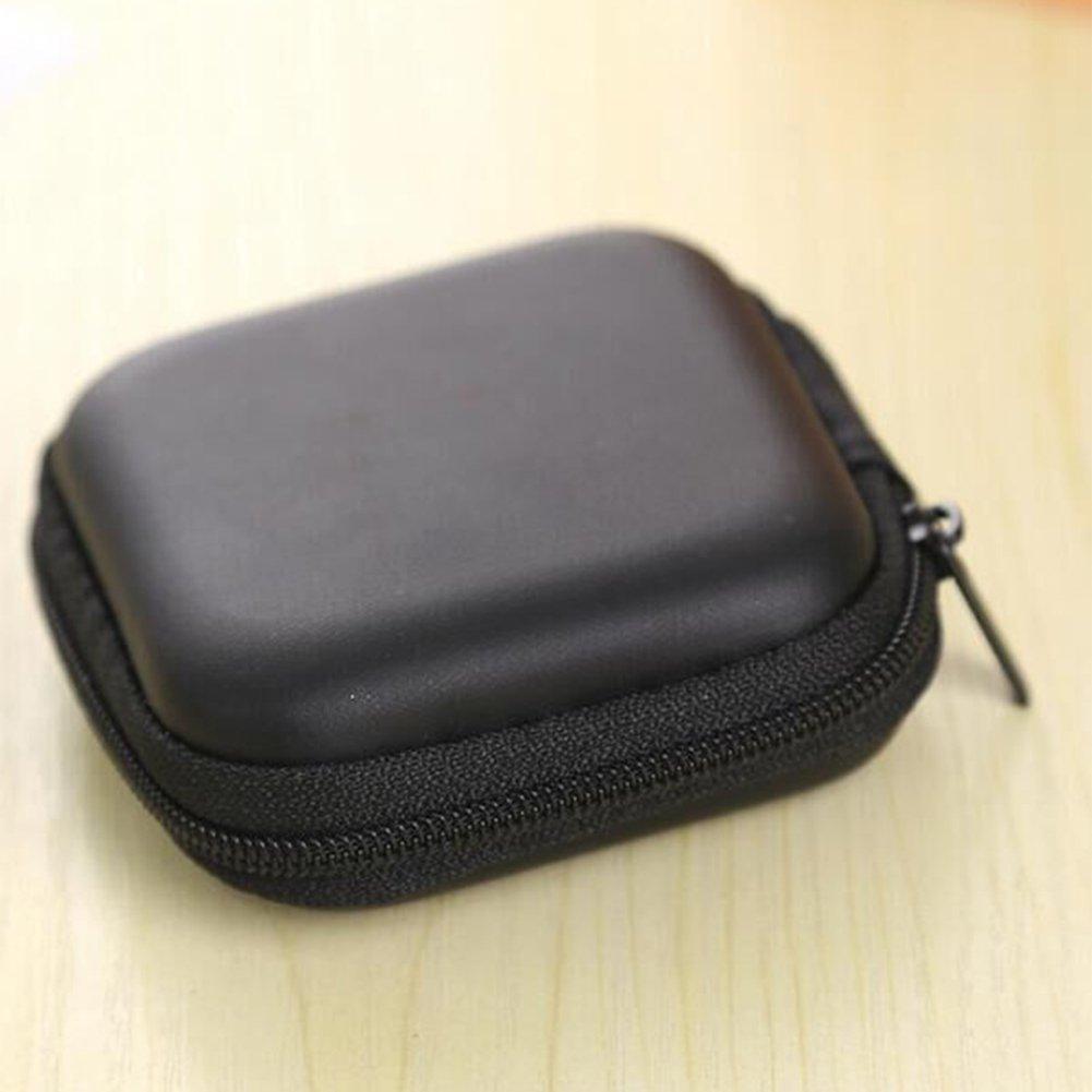 Leoie ファッショナブル ポータブルイヤホンバッグ USBケーブルチャージャーコンテナ キージュエリーバッグ 誕生日 クリスマス ハロウィン ギフトに ブラック 926DA52AE3ADA455  ブラック B07G75VZBN
