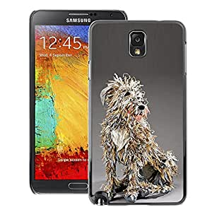A-type Arte & diseño plástico duro Fundas Cover Cubre Hard Case Cover para Samsung Note 3 N9000 (Paper Art Canine Mongrel Figure)