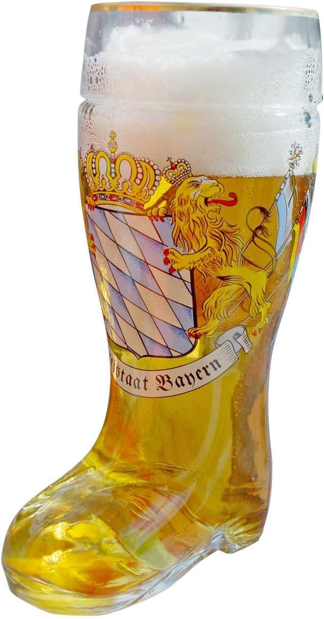 Cerveza Cristal En Forma De Botas cerveza botas con borde dorado ...