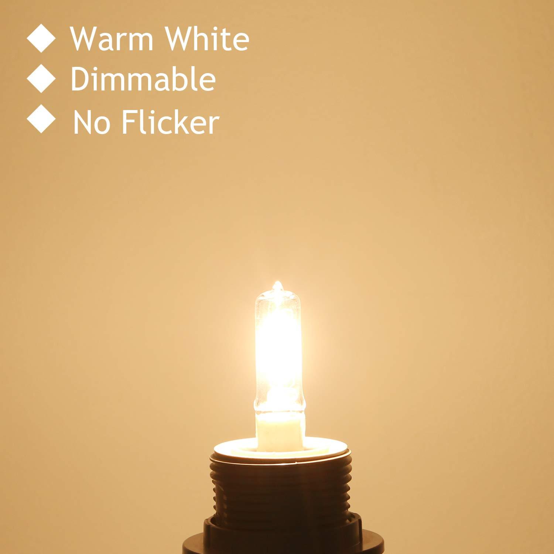 Table Lamps 4-Pack JDE11 120V 75W Dimmable Halogen Bulb T4 Mini Candelabra Base Warm White for Chandeliers Ceiling Fan Cabinet Lighting