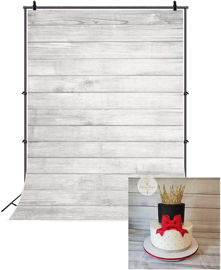 LFEEY 3x5ft Wood Backdrops for Photography Grunge Wood Vintage Worn Wooden Boards Background Seamless Backdrop Gray Wood Photo Backgrounds Wood Wall Wrinkle Free Photography Backdrops Photo Studio