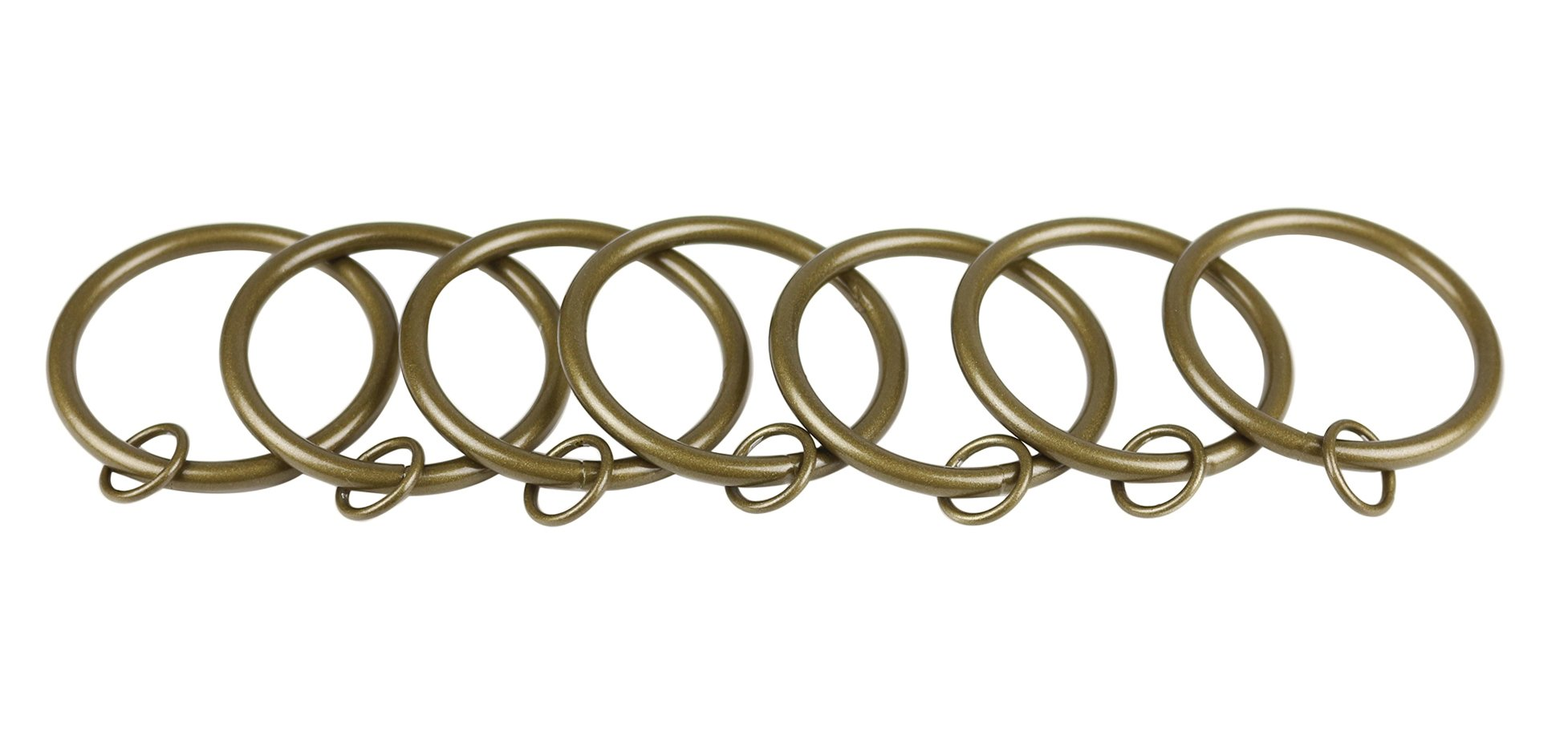 Urbanest Set of 8 Metal Curtain Eyelet Rings 3 Inch Inner Diameter (Antique Gold) by Urbanest (Image #1)