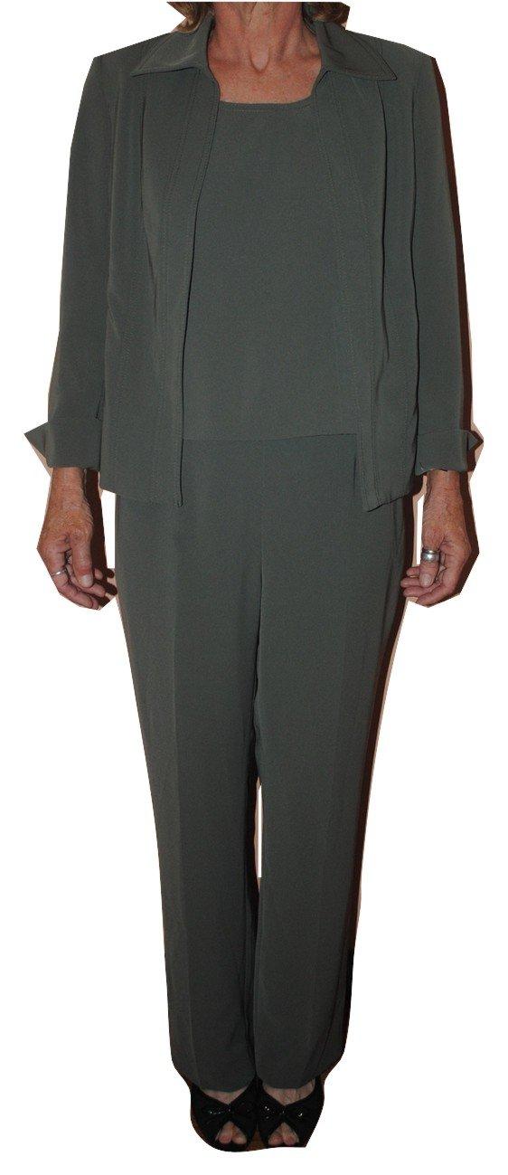 Kasper Women's Menlo Park 3 Piece Pant Suit Size 6P