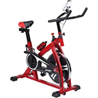 Cartknights Vélo d'Appartement/Cardio Vélo/Vélo d'Aappartement Fitness Piable Silencieux avec Écran LCD et la Fréquence Cardiaque, 125 kg Max