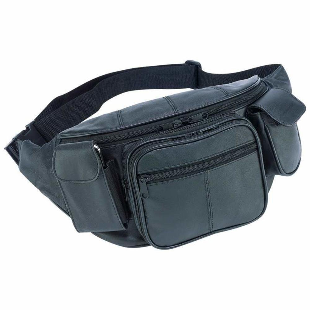 EmbassyTM Large Genuine Leather Waist Bag - Style LUWAISTL LUWAIST2