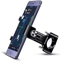 Suxman Soporte Móvil Moto, Bici, Bicicleta, Motocicleta, Carretera de Aluminio (Anti Vibración Con 360 Rotación) Soporte Universal Antideslizante para 4,7'' a 6,8'' para iPhone X, 7 8 8s 6 Plus(Negro)