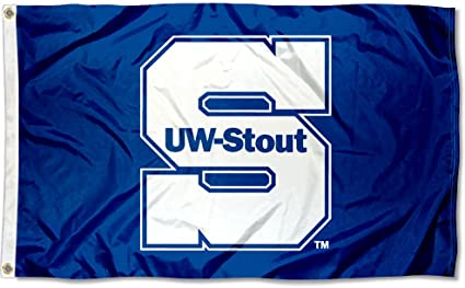 Wisconsin Stout Blue Devils UWS University Large College Flag
