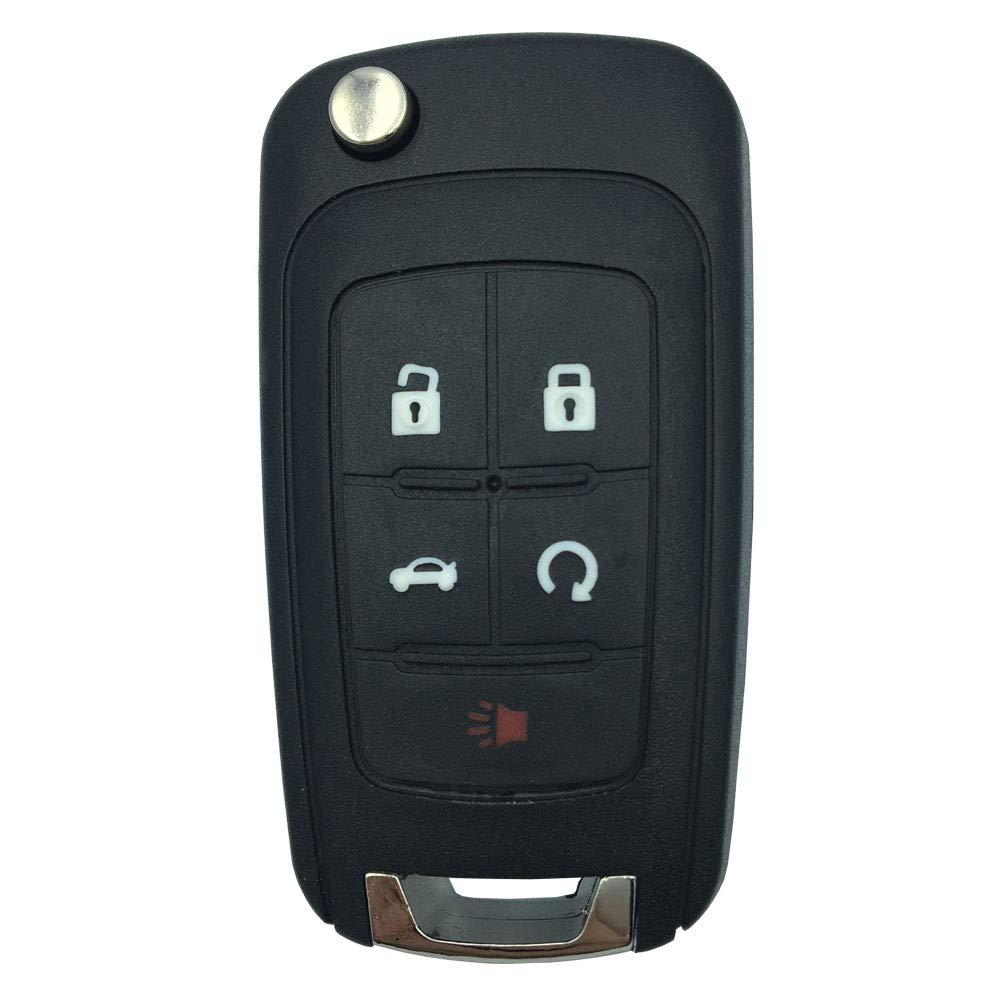 for Replacement 5-Button Uncut Blade Control Key Fob Keyless Entry Remote Flip Shell Case Fits Chevy