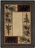 Rustic Lodge Black Bear 2×3 Area Rug, 2'2×3'3 Review