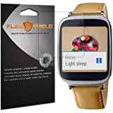 Asus ZenWatch Screen Protector [5-Pack], Flex Shield - Ultra Clear Japanese PET Film with Lifetime Warranty - Bubble-Free HD Clarity with Anti-Fingerprint & Scratch Resistance