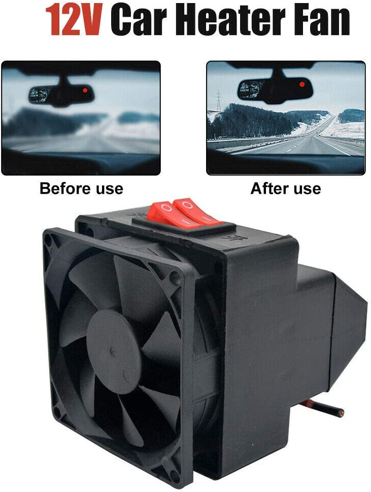 MASO 12V 300W 2 in 1 Fast Heating /& Cooling Fan Defrost for Automobile Windscreen Defog /& Keeping Warm Portable Car Heater