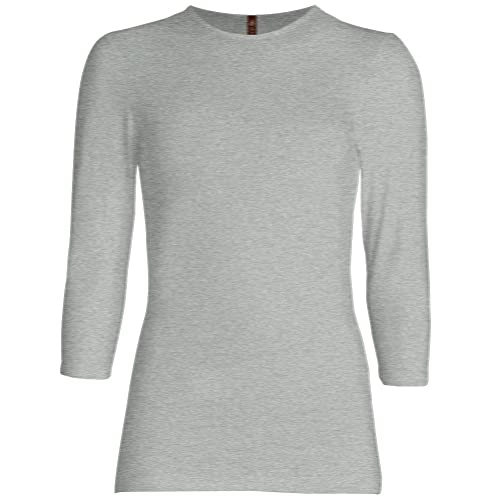 Esteez 3/4 Sleeve Shirt for Women Fitted / Relaxed Cotton Lycra Base layering