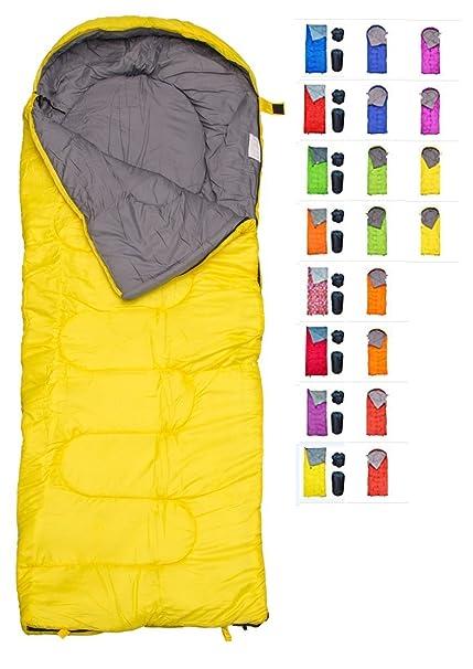 RevalCamp Saco de Dormir para Uso Interior y Exterior. Ideal para niños, niñas,