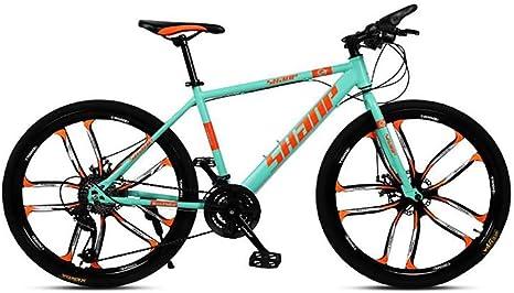 QWE Bicicleta de montaña para Adultos 26 Pulgadas 27 velocidades ...