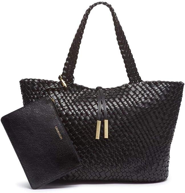 Calvin Klein 卡尔文克莱因 CK Naomi 仿皮编织 大号女式手提包 2.3折$43.96 海淘转运到手约¥370