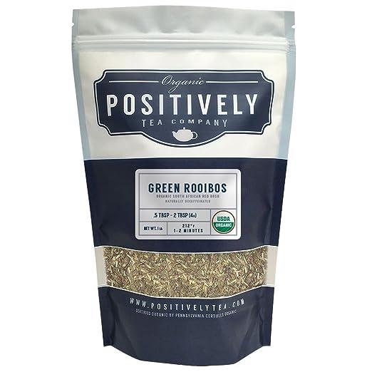 Organic South African Green Rooibos Tea, Loose Leaf Tea Bag, Positively Tea LLC. (1 LB.)