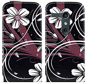 Pretty Style Motorola Moto G DVX XT1032 Flip Leather Case Cover Include Calans Screen Protector -(P2)